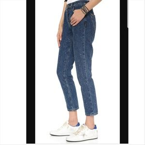 Current/Elliot Vintage Straight Cropped Jeans