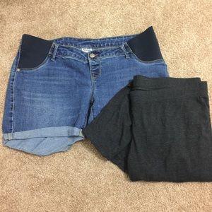 Old Navy Pants - Old navy maternity jean shorts & leggings