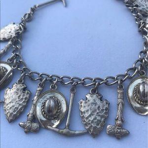 Jewelry - Silver western style charm bracelet