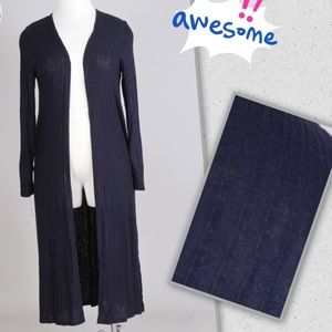Tops - Plus Size 3X Lightweight Navy Blue Duster