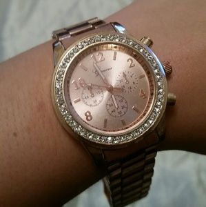 Accessories - Geneva Rose Gold & CZ watch