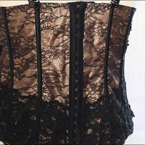 5c7507a2b Lane Bryant Intimates   Sleepwear - 🎉HP🎉 NWOT black lace   satin  asymmetrical corset