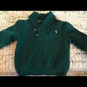 Polo button neck sweatshirt