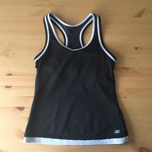 NEW BALANCE black workout top