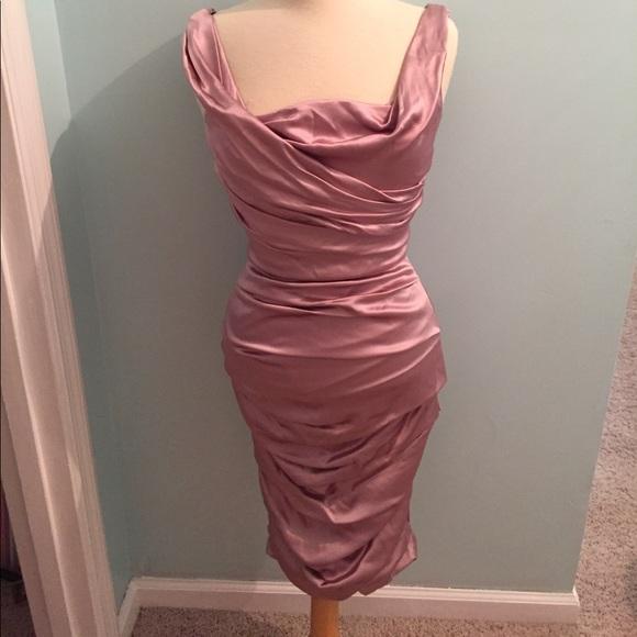 72c2694c Dolce & Gabbana Dresses & Skirts - Dolce & Gabbana Pink Silk Ruched Bodycon  ...