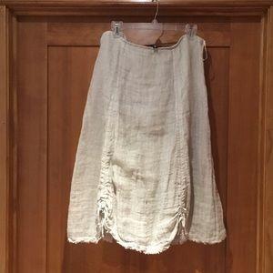 Eileen Fisher linen skirt/cotton lining  Unusual
