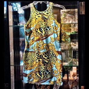 Motel Rocks Dresses & Skirts - Halter animal print dress
