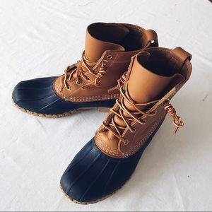 Luxury BEAN BOOTS Women39s Size 7 M Navy Rain Duck Gumshoe Leather Rubber