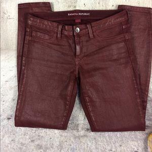 Banana Republic coated jeans