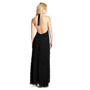 Fringe Halter Maxi Dress