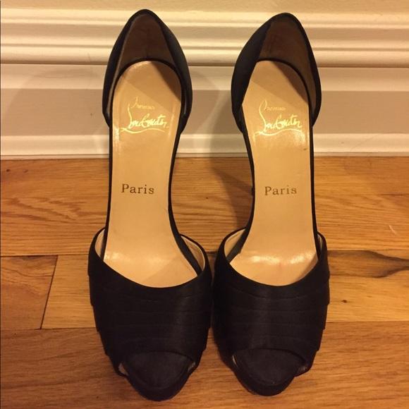 360d762f561d Christian Louboutin Shoes - Christian Louboutin Black Satin Armadillo  D orsay