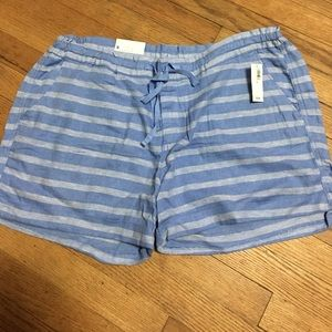Old Navy Linen Stripped Short