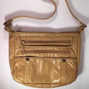 Women's Tan Leather Shoulder Bag Long Strap on Poshmark