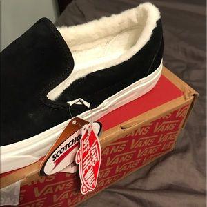 Vans Shoes - Vans classic black suede slip-on shoes