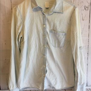 J. Crew Light Wash Chambray The Perfect Shirt