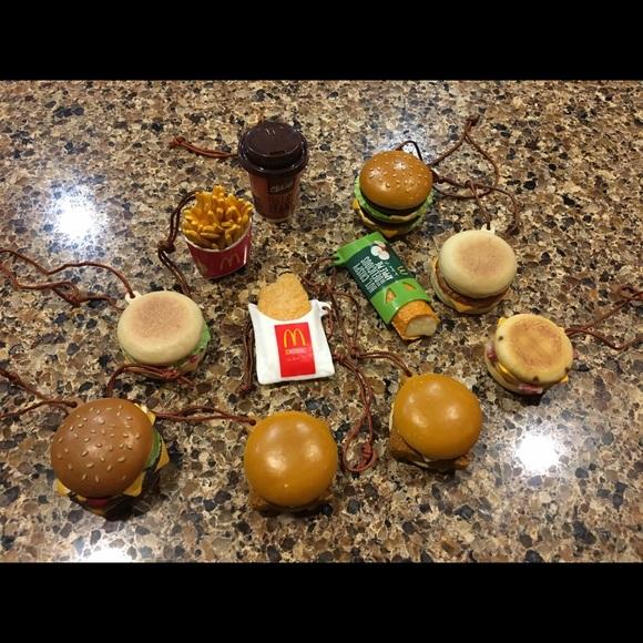 Mcdonalds Christmas Ornament.Mcdonald S Christmas Ornaments Includes All