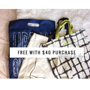 Free reusable bag with $40 purchase