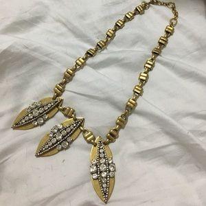 J.Crew brass bib necklace