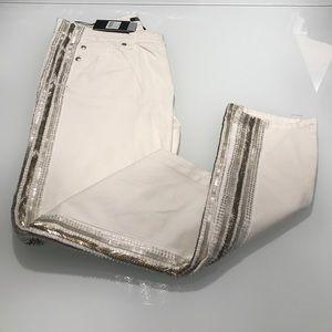 Monika Chiang Denim - White embellished jeans