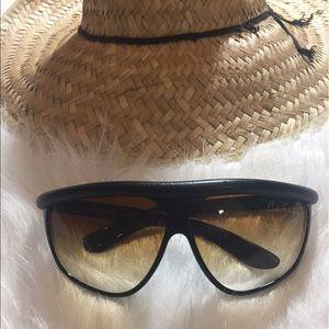 Vintage 80s Carlos Falchi Sunglasses W/ Black