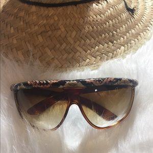 Retro 80s Carlos Falchi sunglasses W/ Snakeskin