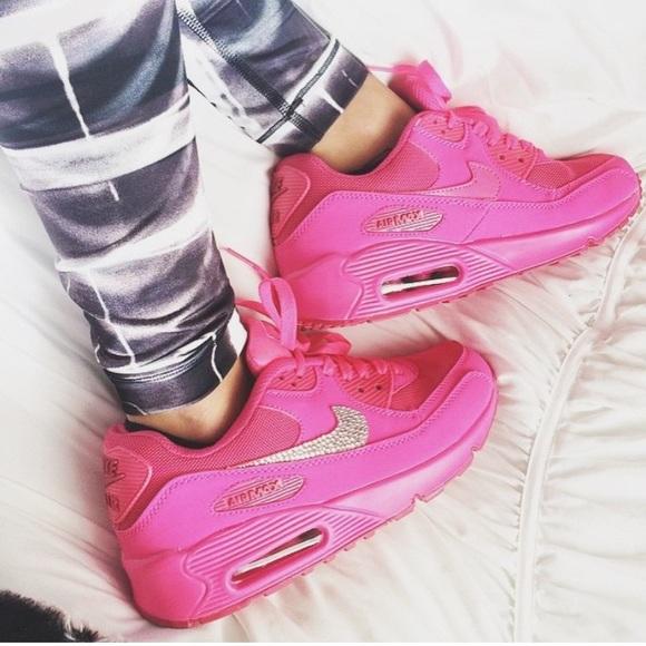 Rare neon pink crystal Nike Air Max
