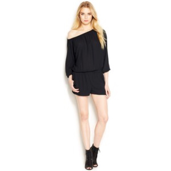 52b8428328fd Long Sleeve Off-Shoulder Romper RACHEL Rachel Roy