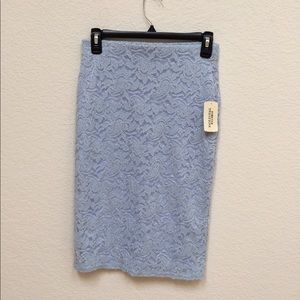 F21 Lace Pencil Skirt