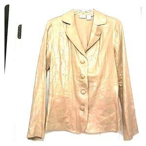 Gold 4 button jacket Spiegel Brand NWOT