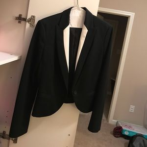 Express Black and White Suit Jacket Size 4