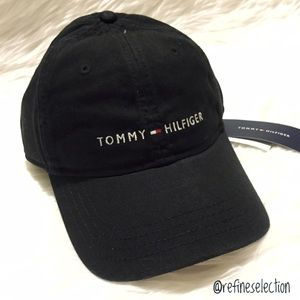 Tommy Hilfiger Accessories - Tommy Hilfiger Embroidered Black Dad Hat Cap