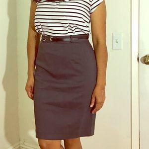 Formal Gray Pencil Skirt