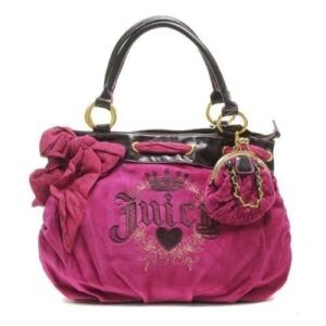 Juicy Couture Pink Velour Handbag