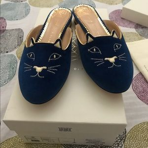 Charlotte Olympia Shoes - Charlotte Olympia Kitty Slippers Mule