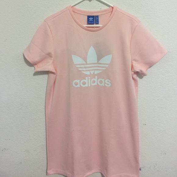 adidas T-Shirt Kleid rosa Sale, bis zu 35% Rabatte