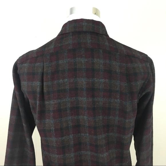 76 off pendleton other pendleton flannel 100 virgin for Mens wool flannel shirt