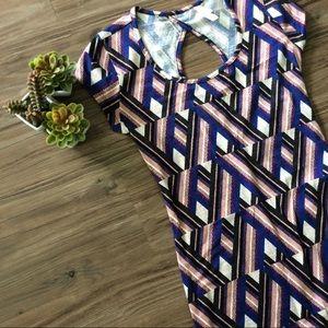 NWOT Geometric Print Dress