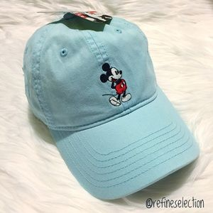 Disney Accessories - Disney Mickey Mouse Embroidered Blue Dad Hat Cap