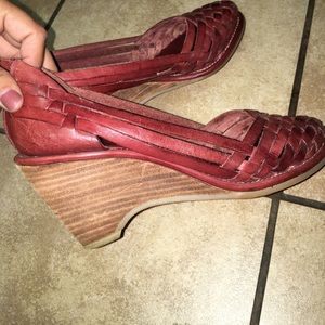 vintage mexican sandal wedges