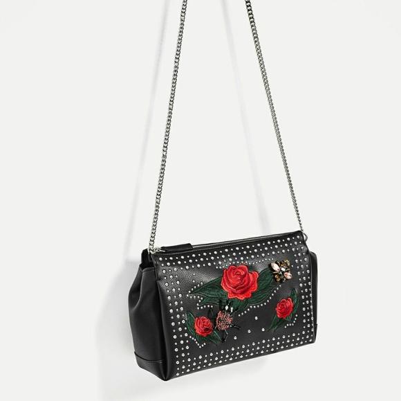 Zara - Zara Floral Embroidery U0026 Beaded Detail Crossbody From Fashionu0026#39;s Closet On Poshmark
