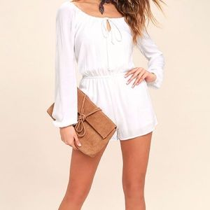 Lulus Other - Full of Dreams White Long Sleeve Romper