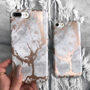 Accessories - Rose Gold Marble IPhone 7/7 Plus Case
