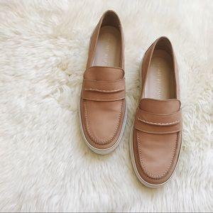 Stuart Weitzman Shoes - Stuart Weitzman Nude Pecan Loafer Sneakers