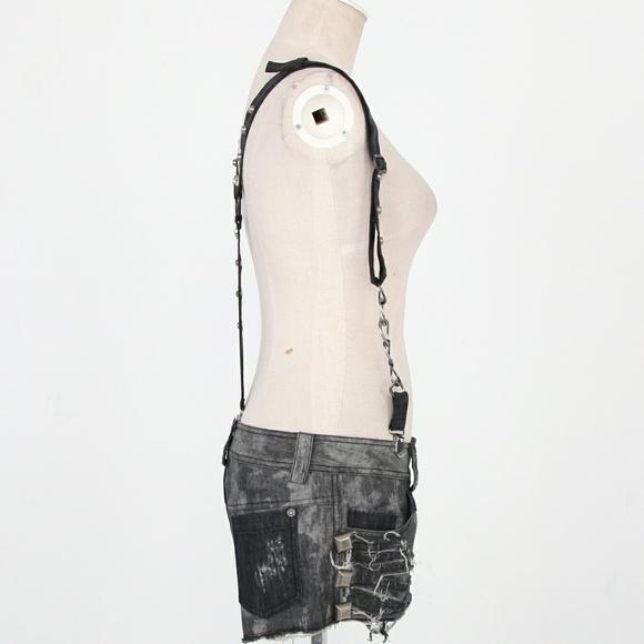 Punk Rave Accessories - Final Price NWT Black Punk Studded Spike Suspender