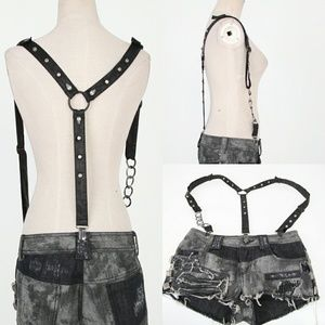 Punk Rave Accessories - Final Price NWT Black Punk Studded Spike Suspender