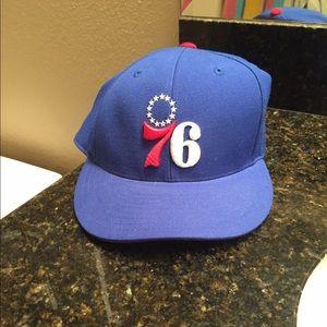 Philadelphia 76ers Mitchell & Ness Hat Sz 7 3/8