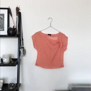 🚨Donating Soon🚨 TOPSHOP Orange sheer blouse