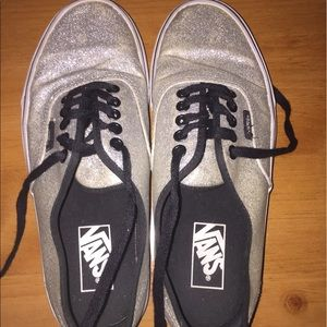 Vans Shoes - Silver sparkly Vans! Very cute!