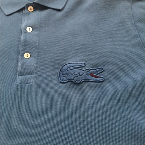 Lacoste Shirts Big Logo Polo Shirt Size 6 Large Poshmark