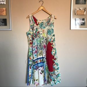 Johnny Was Dresses & Skirts - Johnny Was XL printed eccentric summer dress